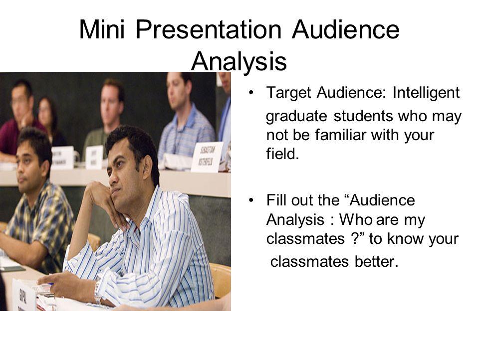 Mini Presentation Audience Analysis