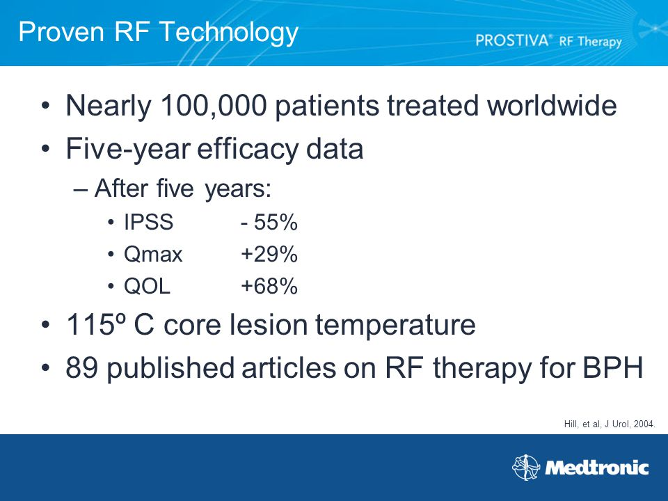 Nearly 100,000 patients treated worldwide Five-year efficacy data