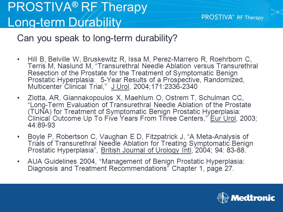 PROSTIVA® RF Therapy Long-term Durability