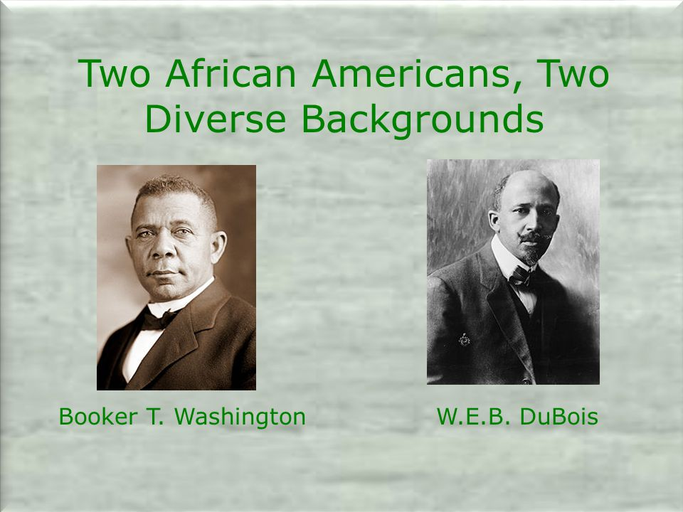 Two African Americans, Two Diverse Backgrounds