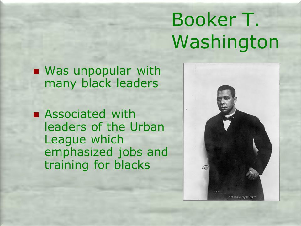 Booker T. Washington Was unpopular with many black leaders