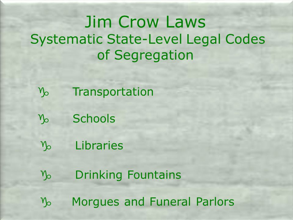 Systematic State-Level Legal Codes of Segregation