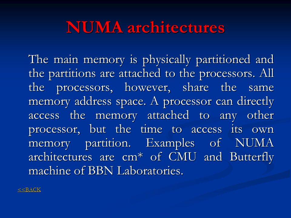 NUMA architectures