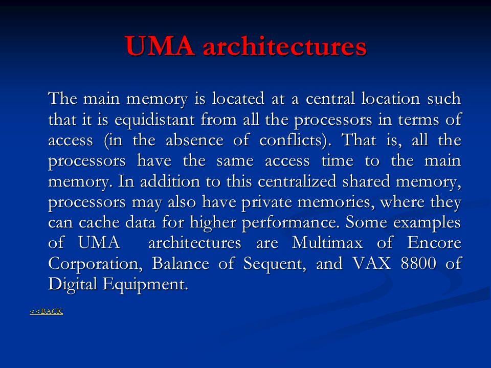 UMA architectures