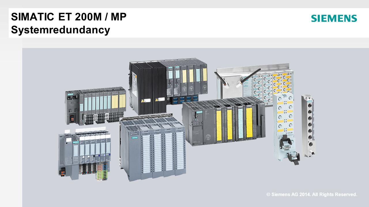 SIMATIC ET 200M / MP Systemredundancy