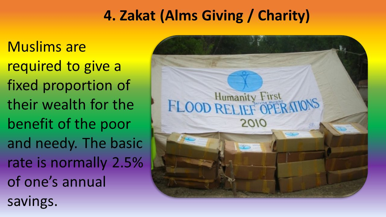 4. Zakat (Alms Giving / Charity)