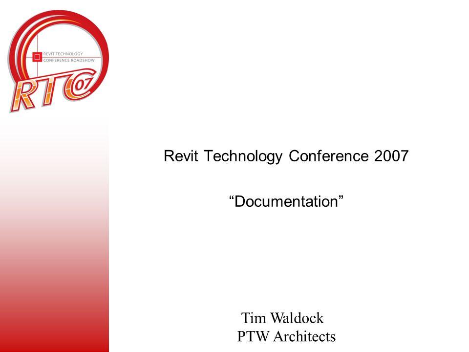 Revit Technology Conference 2007