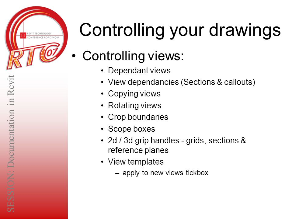 Controlling your drawings