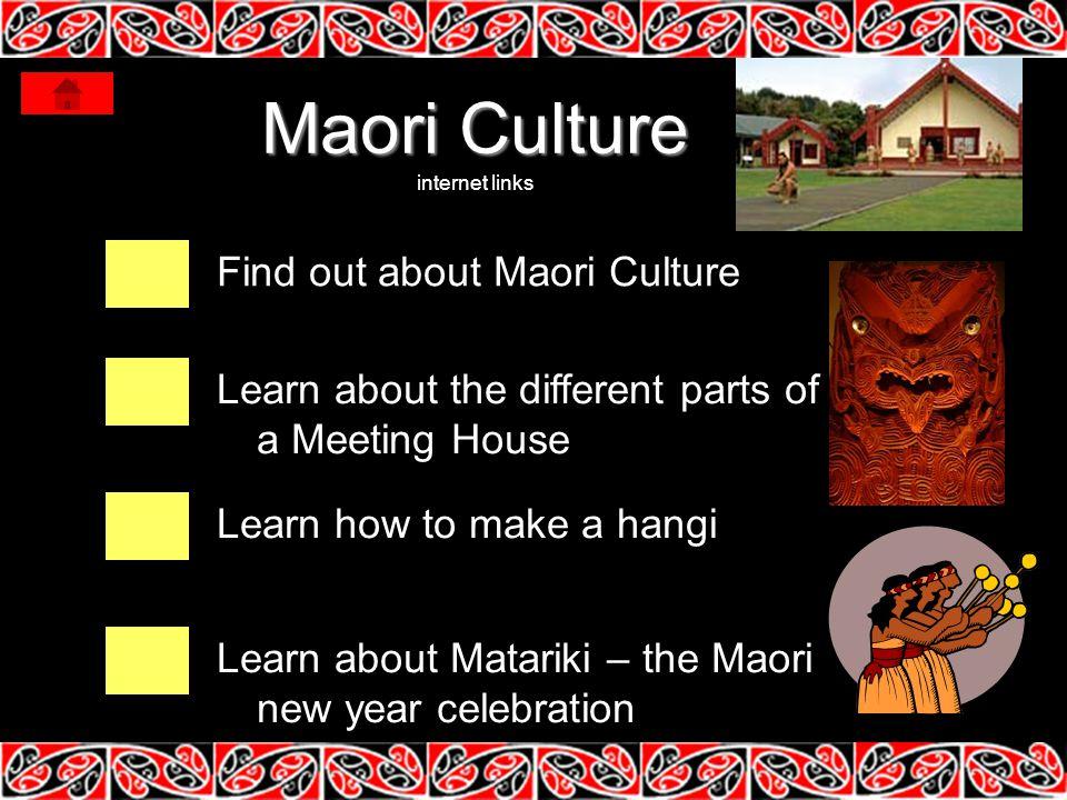 Maori Culture internet links