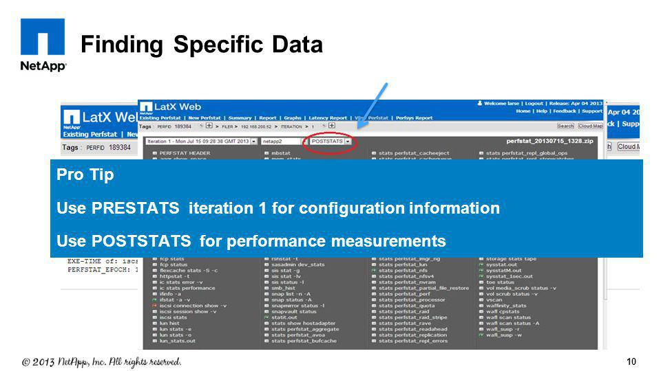 Finding Specific Data Pro Tip
