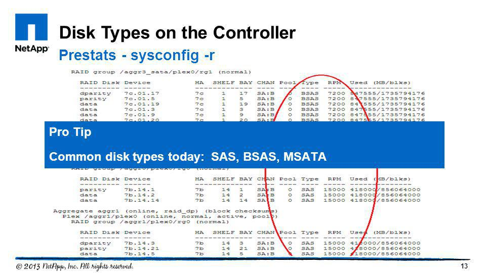 Disk Types on the Controller