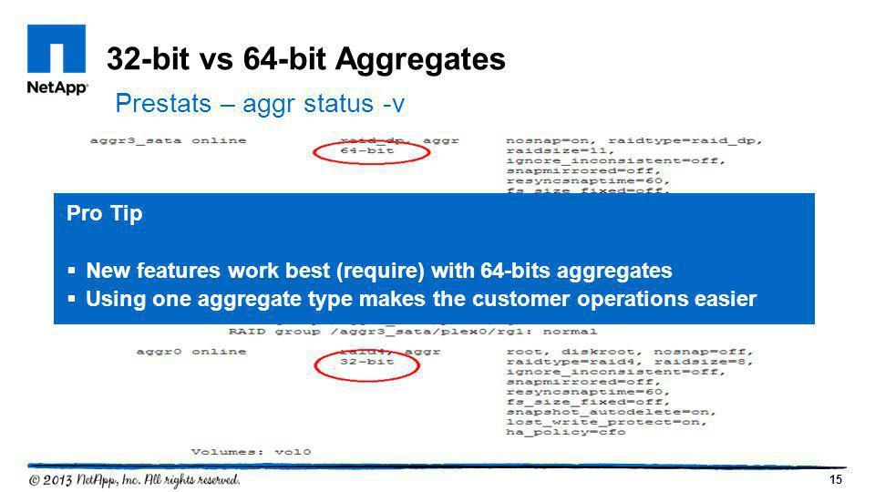 32-bit vs 64-bit Aggregates