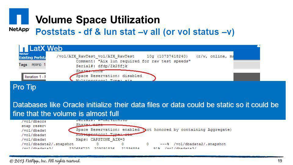 Volume Space Utilization