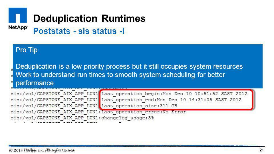 Deduplication Runtimes