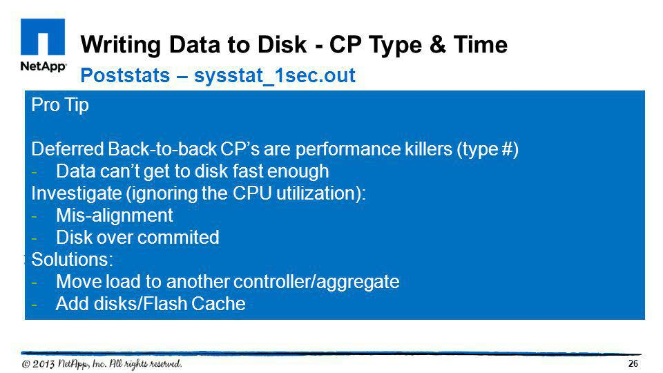 Writing Data to Disk - CP Type & Time
