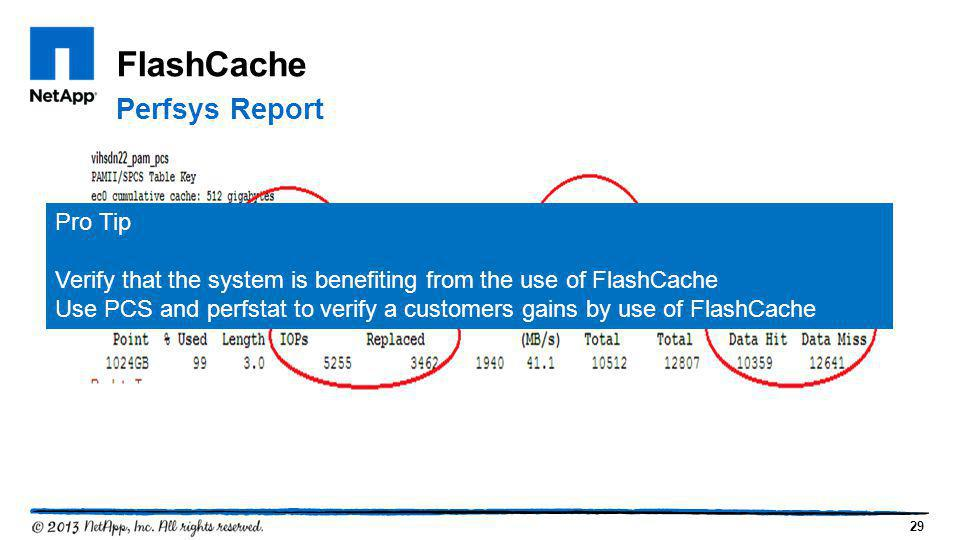 FlashCache Perfsys Report Pro Tip