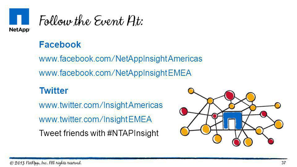 Facebook Twitter www.facebook.com/NetAppInsightAmericas