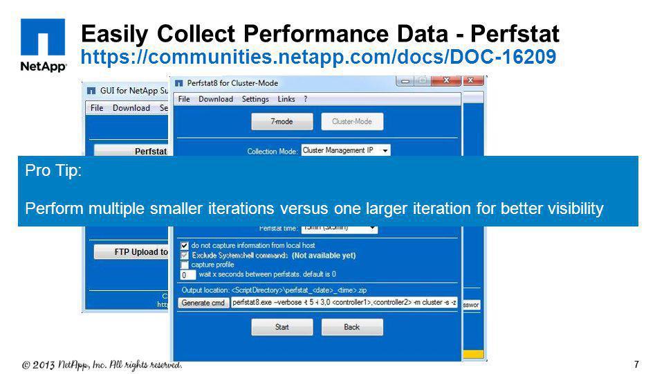 Easily Collect Performance Data - Perfstat https://communities. netapp