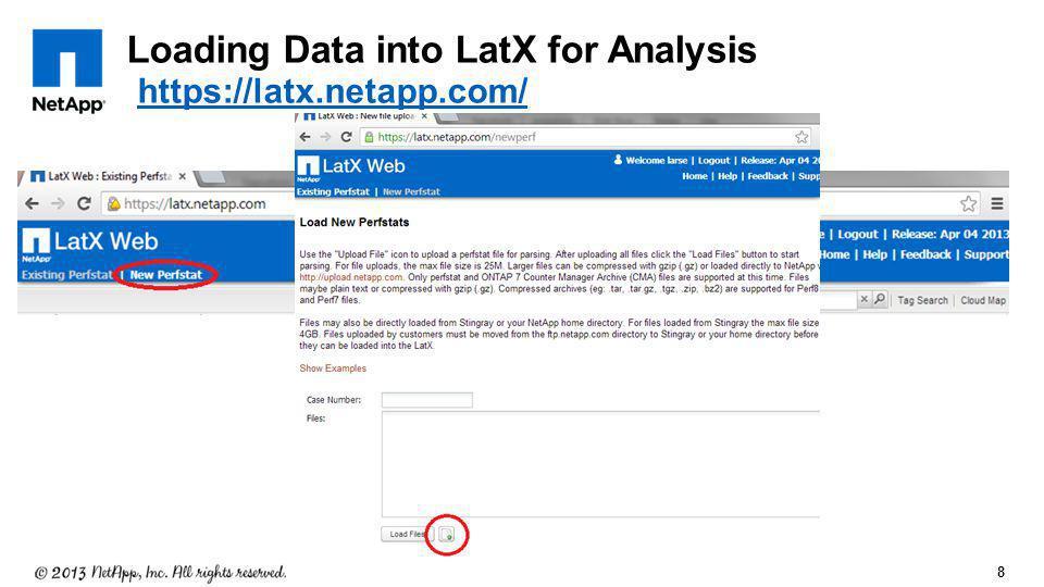 Loading Data into LatX for Analysis https://latx.netapp.com/