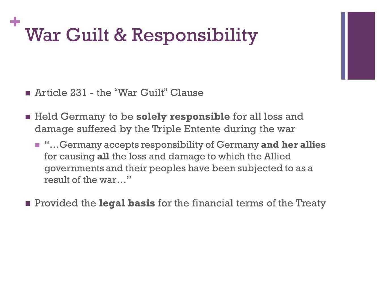 War Guilt & Responsibility