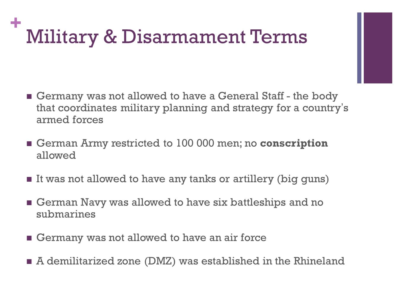 Military & Disarmament Terms