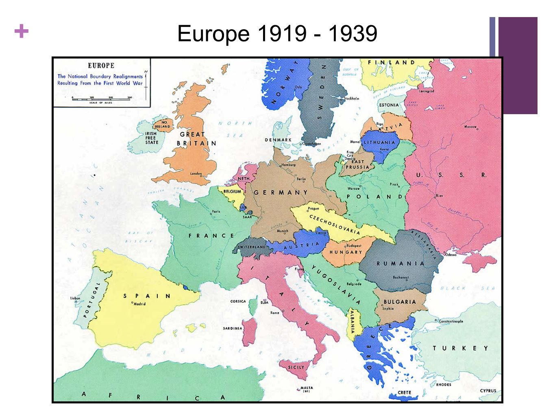 Europe 1919 - 1939