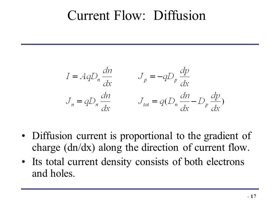Current Flow: Diffusion