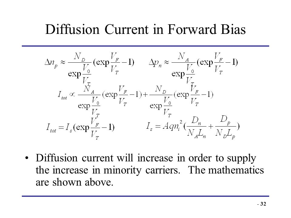 Diffusion Current in Forward Bias