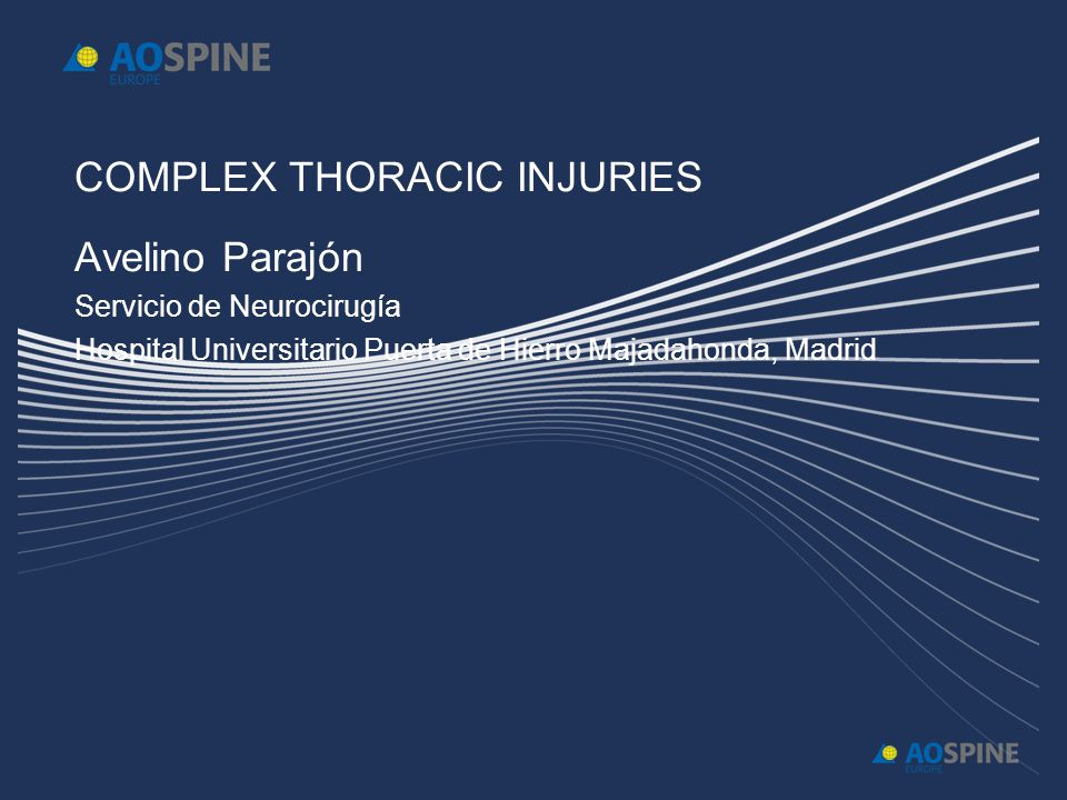 COMPLEX THORACIC INJURIES