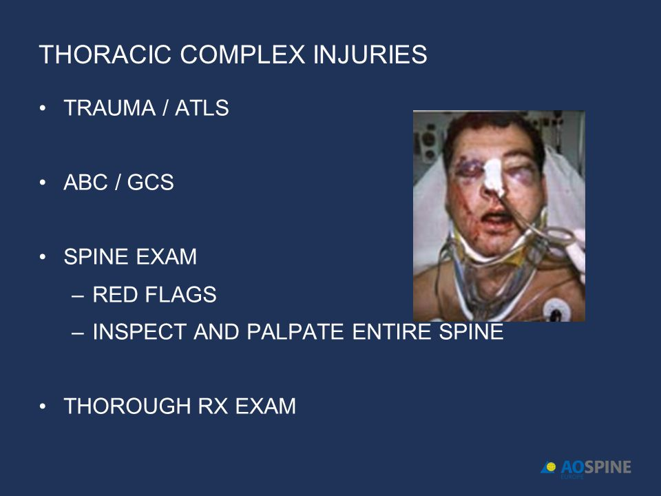 THORACIC COMPLEX INJURIES