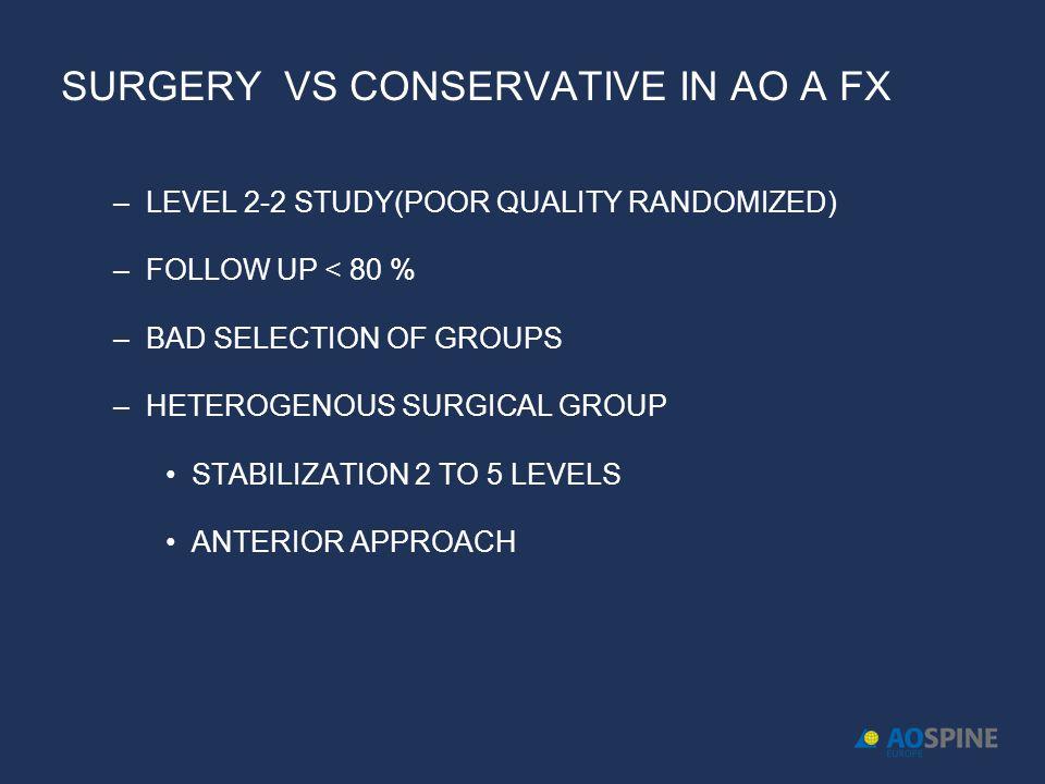 SURGERY VS CONSERVATIVE IN AO A FX