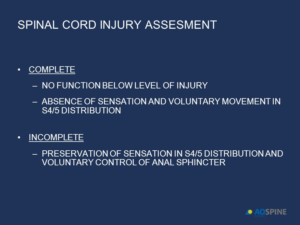 SPINAL CORD INJURY ASSESMENT