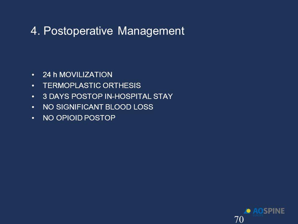 4. Postoperative Management