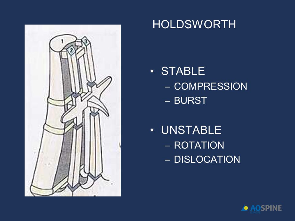 HOLDSWORTH STABLE COMPRESSION BURST UNSTABLE ROTATION DISLOCATION