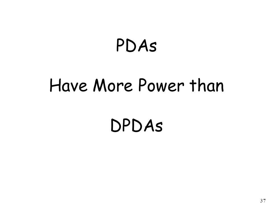 PDAs Have More Power than DPDAs