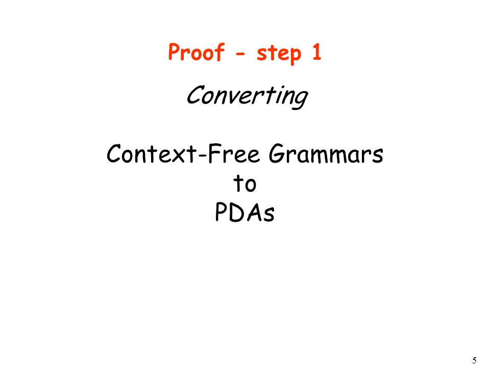 Converting Context-Free Grammars to PDAs