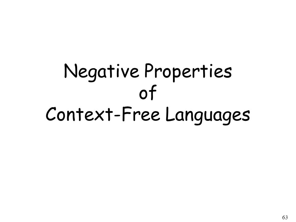 Negative Properties of Context-Free Languages