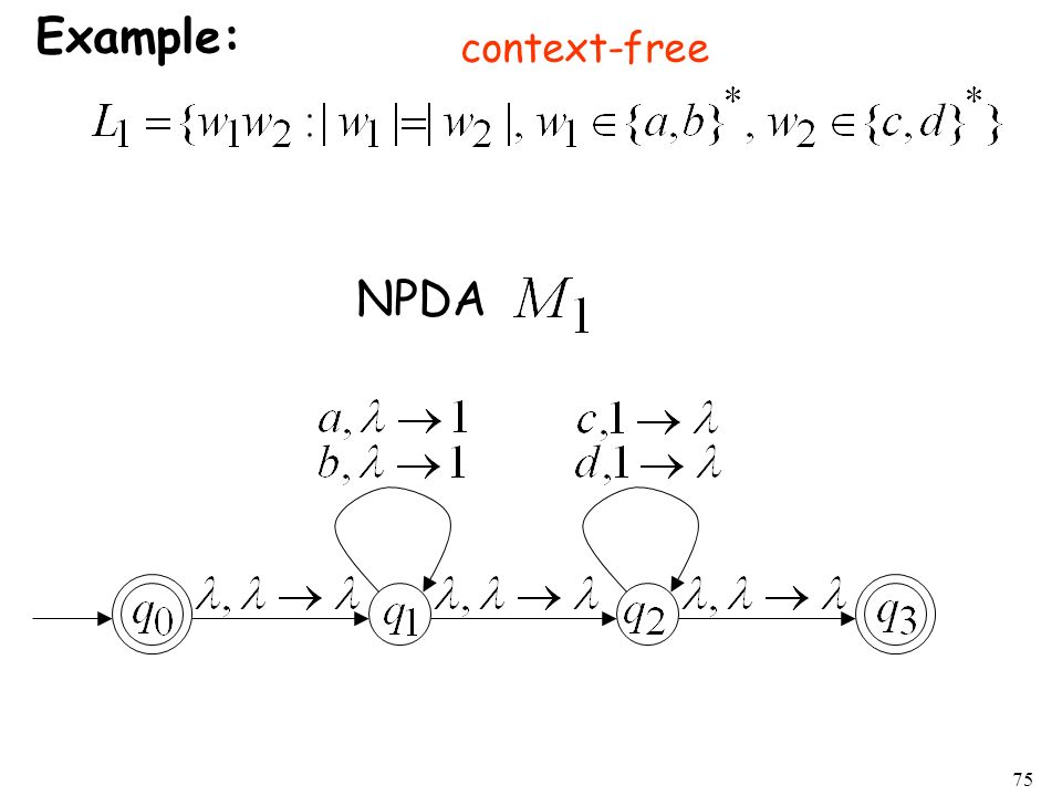 Example: context-free NPDA