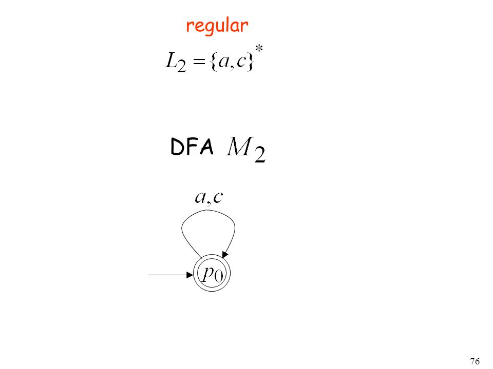 regular DFA