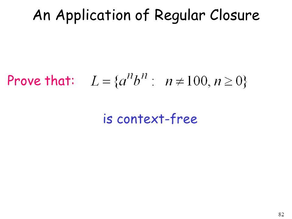 An Application of Regular Closure