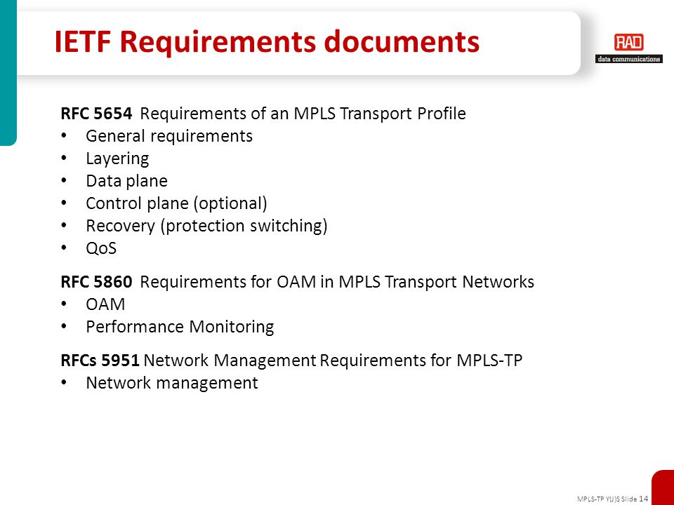 IETF Requirements documents