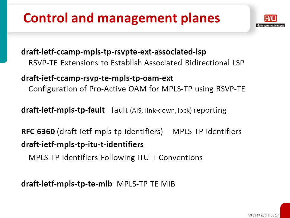 Control and management planes