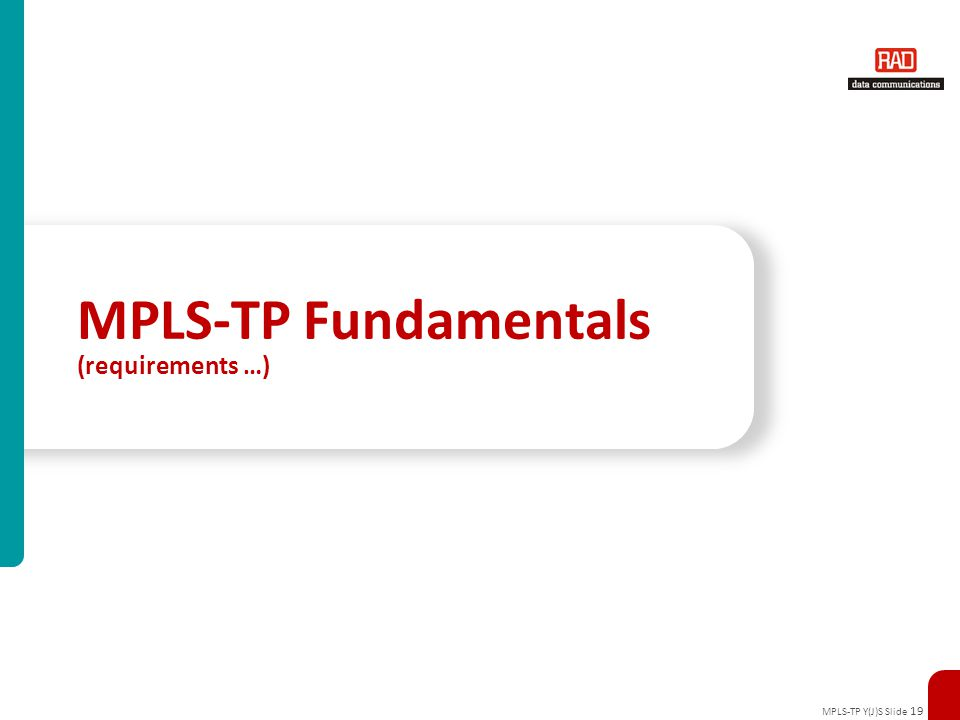 MPLS-TP Fundamentals (requirements …)
