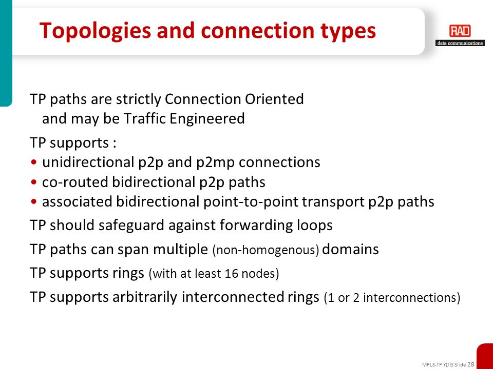 Topologies and connection types