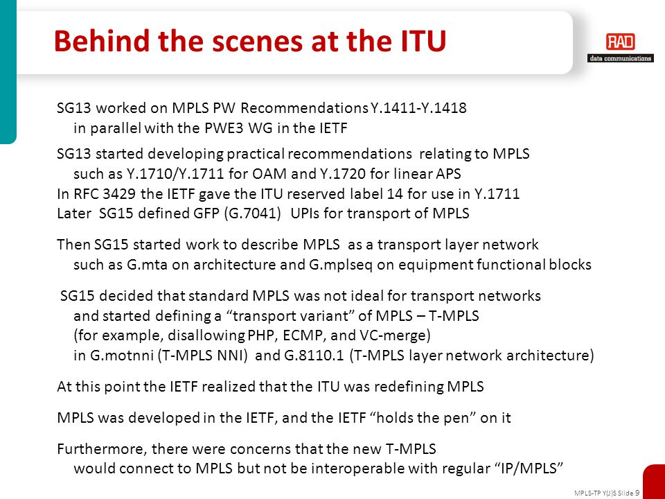 Behind the scenes at the ITU