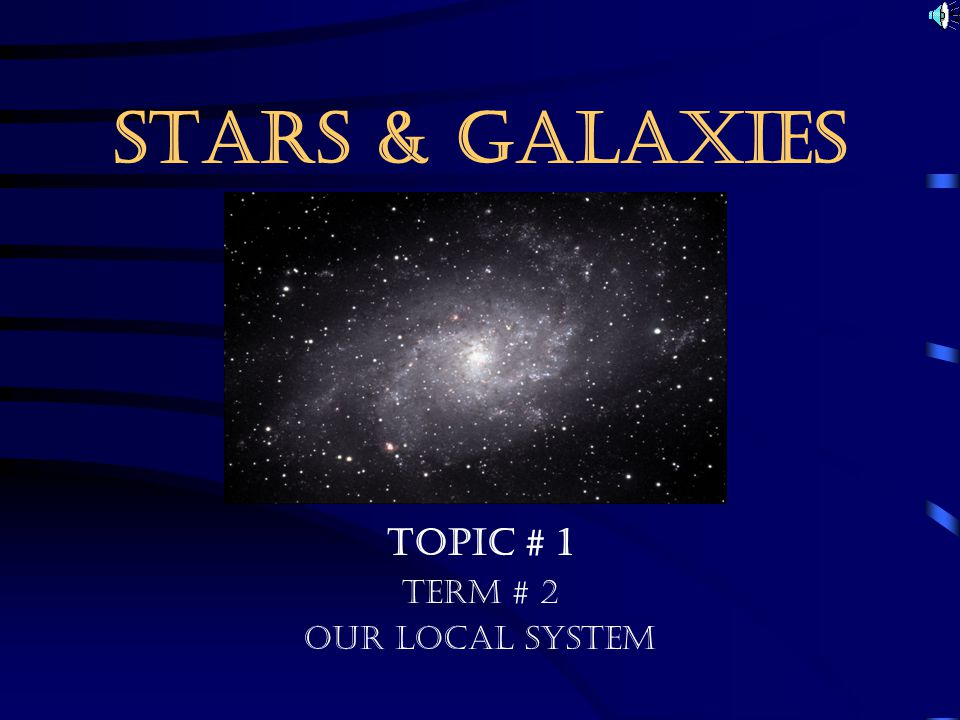 Topic # 1 Term # 2 Our Local System