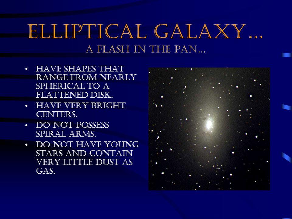 ELLIPTICAL GALAXY… A FLASH IN THE PAN…