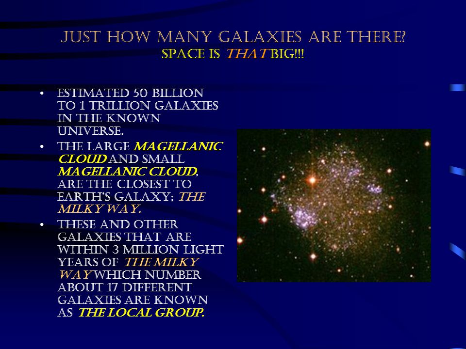 JUST HOW MANY GALAXIES ARE THERE Space is that big!!!
