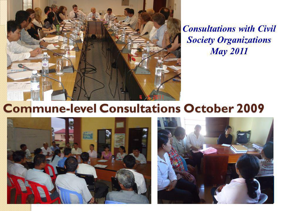 Commune-level Consultations October 2009