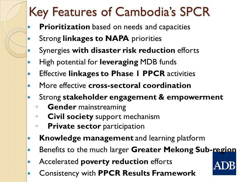 Key Features of Cambodia's SPCR